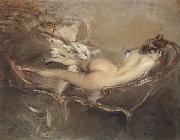 Giovanni Boldini A Reclining Nude on a Day-bed oil painting picture wholesale