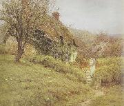Helen Allingham,RWS South Country Cottage (mk46) oil painting artist