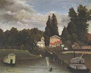 Henri Rousseau Banks of the Marne(Charenton) The Alfort Mill oil painting picture wholesale