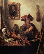 Job Berckheyde The Painter in his Studio oil painting artist