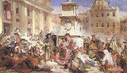 John Frederick Lewis Easter Day at Rome (mk46) oil painting reproduction
