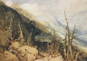 Joseph Mallord William Truner Montanvert,Valley of Chamouni (mk47) oil painting artist