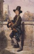 Octavius Oakley Young Street Musician (mk47) oil painting picture wholesale