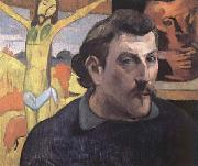 Paul Gauguin Self-Portrait with Yellow Christ oil painting picture wholesale