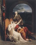 Richard Westall Queen Judith reciting to Alfred the Great (mk47) oil painting picture wholesale