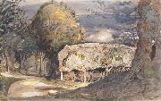 Samuel Palmer Cart Shed and Lane oil painting picture wholesale