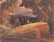 Samuel Palmer Harvesters by Firelight oil painting picture wholesale