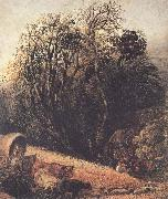 Samuel Palmer A Cornfield Bordered by Trees oil painting picture wholesale