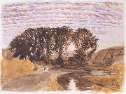 Samuel Palmer Study for The Watermill oil painting picture wholesale