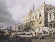 Samuel Prout The Doge s Palace and the Grand Canal,Venice (mk47) oil painting picture wholesale