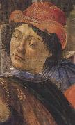 Sandro Botticelli Personage wearing a green mantle third in the group on the left oil painting picture wholesale