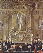 Sir William Orpen A Peace Conference at the Zuai d Orsay oil painting picture wholesale