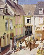 Sir William Orpen The Courtyard,Hotel Sauvage,Cassel,Nord oil painting picture wholesale