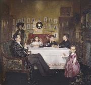 Sir William Orpen A Bloomsbury Family oil painting picture wholesale