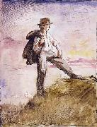 Sir William Orpen Self-Portrait in the hills above Huddersfield oil painting picture wholesale