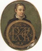 Sofonisba Anguissola Self-Portrait Holding a Medallion with the Letters of her Father s Name, oil painting picture wholesale