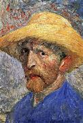 Vincent Van Gogh Self-Portrait in a Straw Hat oil painting picture wholesale