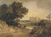 William Havell Carew Castle,Near Pembroke (mk47) oil painting picture wholesale