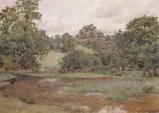 Wilmot Pilsbury,RWS Landscape in Leicestershire (mk46) oil painting picture wholesale