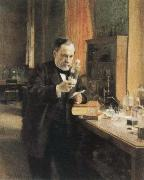 Albert Edelfelt louis pasteur in his laboratory oil