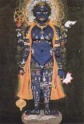 Ambrogio Lorenzetti vishnu visvarupa,preserver of the universe,represnted as the whole world oil