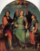 Andrea del Sarto Rafael Angel of Latter-day Saints and the great Leonard, with donor oil painting reproduction