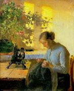 Anna Ancher Syende fiskerpige oil