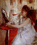 Berthe Morisot ung kvinna med pudervippa oil painting picture wholesale