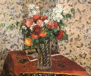 Camille Pissarro Table flowers oil painting reproduction