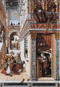 Carlo Crivelli the annunciation,with st.emidius oil painting picture wholesale