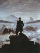 Caspar David Friedrich wanderer above the sea of fog oil painting picture wholesale