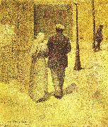 Charles Angrand Man and Woman on the Street oil painting picture wholesale