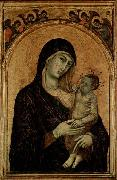 Duccio Madonna with Child. oil painting artist