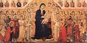 Duccio Maesta with Twenty Angels and Nineteen Saints. oil