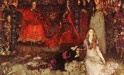 Edwin Austin Abbey The play scene in Hamlet oil painting artist