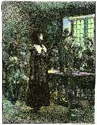 Edwin Austin Abbey Anne Hutchinson on Trial oil painting artist