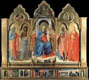 Fra Angelico Virgin and child Enthroned with Four Saints oil painting picture wholesale