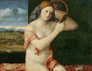 Giovanni Bellini Naked Young Woman in Front of the Mirror oil painting picture wholesale