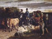 Gustave Courbet The Peasants of Flagey Returning from the Fair oil painting picture wholesale