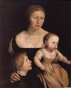 Hans Holbein The artist s wife abuse oil painting picture wholesale