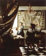 Jan Vermeer the artist s studio oil painting picture wholesale