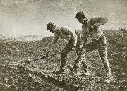 Jean Francois Millet Two person dig the land oil painting picture wholesale