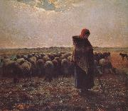 Jean Francois Millet Shepherdess oil painting picture wholesale