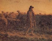 Jean Francois Millet Detail of Shepherden with his sheep oil painting picture wholesale