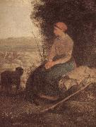 Jean Francois Millet Sleeping Shepherdess oil painting picture wholesale