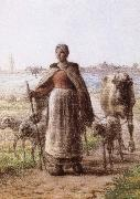 Jean Francois Millet A coulp of peasant oil painting picture wholesale