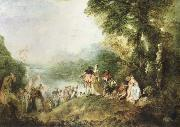 Jean-Antoine Watteau the pilgrimage to cythera oil painting picture wholesale