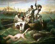John Singleton Copley Watson and the Shark (1778) depicts the rescue of Brook Watson from a shark attack in Havana, Cuba. oil painting picture wholesale