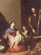 Jusepe de Ribera The Holy family oil painting artist