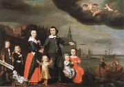 Nicolaes maes captain job jansz cuyter and his family oil painting picture wholesale